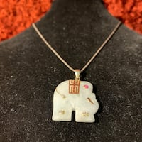 Jade Sterling Silver Elephant Pendant Sterling Silver Chain Ashburn, 20147