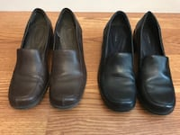 Ladies brown and navy blue leather shoes. Cibolo, 78108