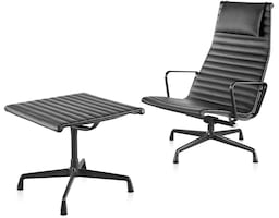 eames® aluminum group lounge chair and ottoman