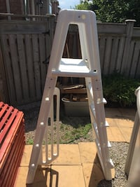 A-Frame Pool Ladder with Sliding Guard Lock Steps for Above Ground Pools Oakville