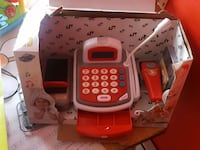 red and white cash register