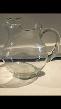 Large glass beverage pitcher. $5. East Dundee..