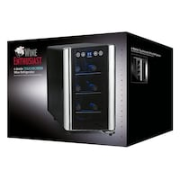 black and silver Wine Enthusiast wine cooler box