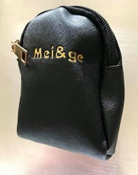 BRAND NEW Mei&ge Mini Leatherette Clip-On Coin Purse • $10 FIRM!