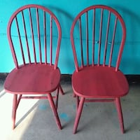 2 Red rustic painted chairs Bowie, 20720