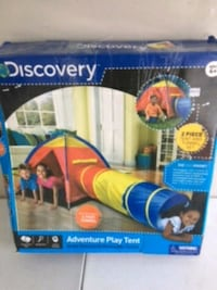blue, yellow, and red Discovery adventure play tent box Jacksonville, 36265