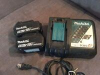 Makita battery charger and 2 batteries  Essex, 21221