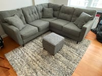 Ashley Zardoni Sectional Couch w/ ottoman and rug Oxon Hill, 20745