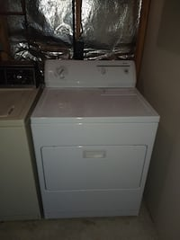 white front-load clothes dryer FREDERICK