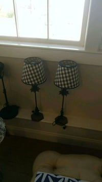 two black metal base table lamps Plymouth, 02360