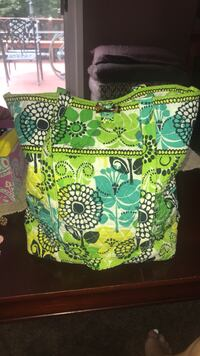 white, green, and red floral tote bag Mc Lean, 22101