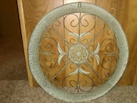 round white and brown floral ceramic plate Venus, 76084
