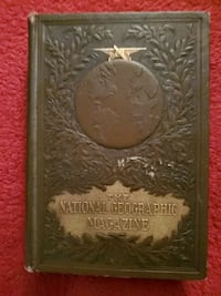 1930, Leather binder, Hard Copy of National Geographic Magazine.