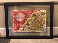 Dry flower and melted candle art work frame Coquitlam, V3J 4K1