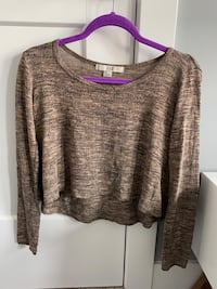 Brown longsleeve crop top from Forever 21