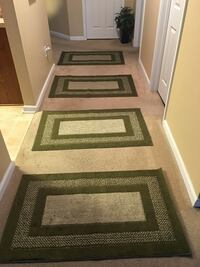 Four Olive green and white area rug Pooler, 31322