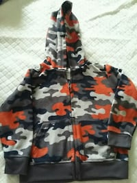 black, red, and gray camouflage zip up hoodie San Diego, 92108
