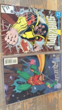 two assorted Marvel comic books