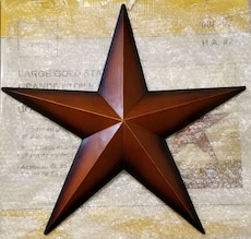 Star Wall/House Decoration - 2-tone Golden - 21.8""