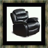 Black recliner chair Alexandria