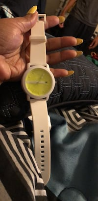 Armani Exchange Watch Light Green Face with white strap Bear, 19701