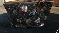 black and brown Louis Vuitton leather tote bag North Arlington, 07031