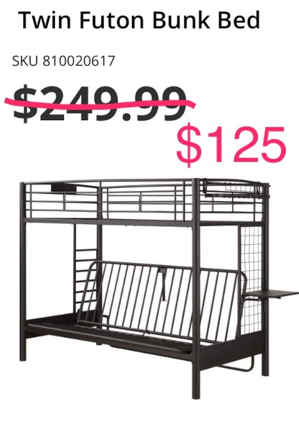 Used Price Reduced Futon Bunk Bed