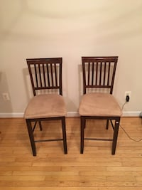 four brown wooden windsor chairs Rockville, 20850
