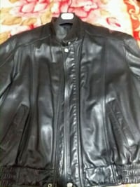 black Danier real leather jacket  Toronto, M1K 4W5
