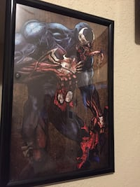 Autographed and framed venom print by legendary artist Eroll See! Incredible artwork