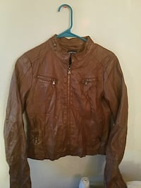 NEW brown leather full-zip jacket Anchorage, 99508