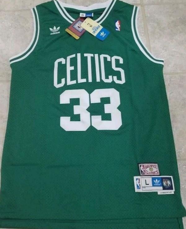 Larry bird Throw back jersey with tags size L