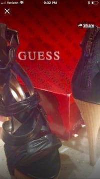 Guess black leather high heels. Sz 8 Delran, 08075