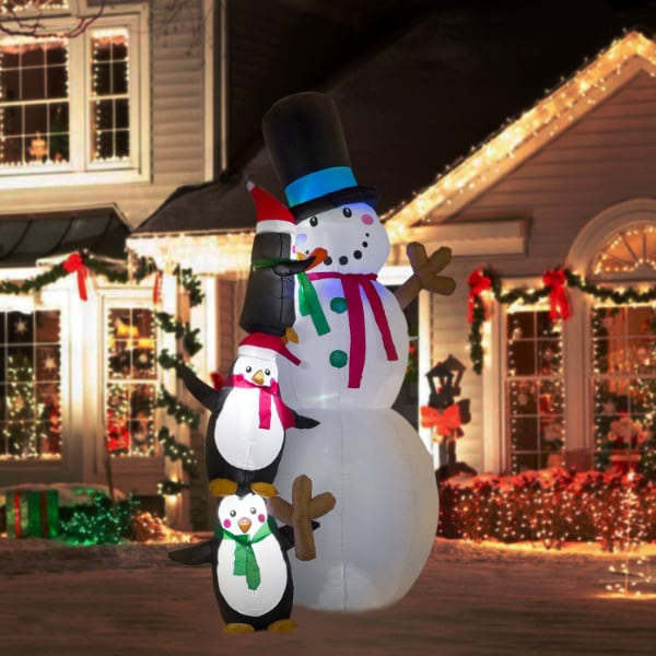 Giant 8 Ft  Snowman Christmas Inflatable Blow Up Yard Decoration