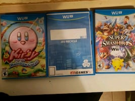 Wii U  Kirby and the Rainbow Curse, Super Smash Bros all $20 each