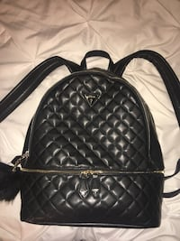 quilted black Guess backpack