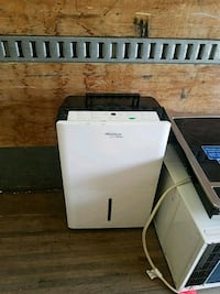 white and black portable air conditioner East Providence, 02914