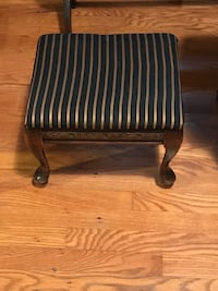 black and white stripe padded chair