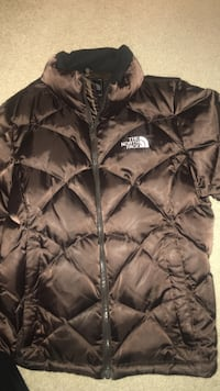 black The North Face bubble jacket