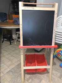 Easel chalk board and white board