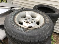 Jeep Wrangler 225 /75/15 I have 5 tires n rims 90% left North Easton, 02356