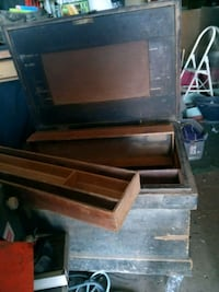 Solid Pine wood Carpenter's tool box Andover