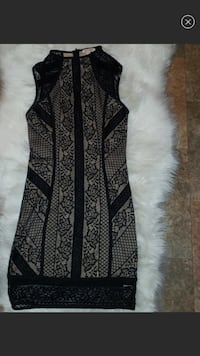 Black and gray floral sleeveless dress Anthony, 88021