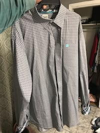 gray and white plaid dress shirt Odessa, 79764