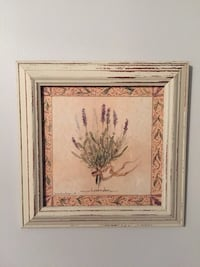 Wall Decor Shabby Chic Framed Lavender