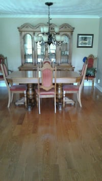 brown wooden dining table set 541 km
