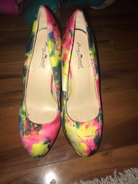 pair of green and pink floral platform stilettos Hyattsville, 20785