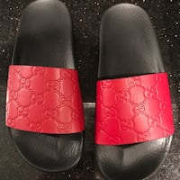 Gucci slide sandals red hibiscus (will negotiate)