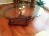 Oval cherry wooden coffee table Odenton, 21113