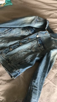 blue denim button-up jacket Edmonton, T6L 7E1